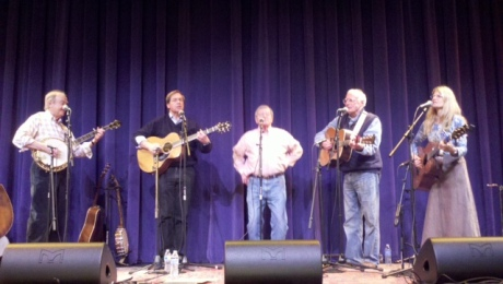 Bloomsbury performing at the Pinecone fundraiser event