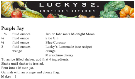 purple jay recipe