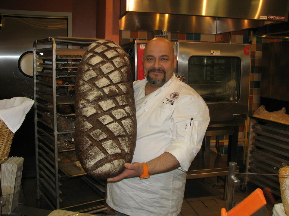 Chef Benjamin bread sampling