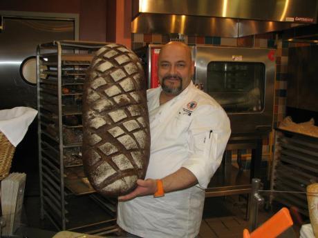 Chef Benjamin bread sampling
