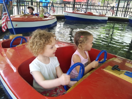 Kiddie boats at Pullen Park