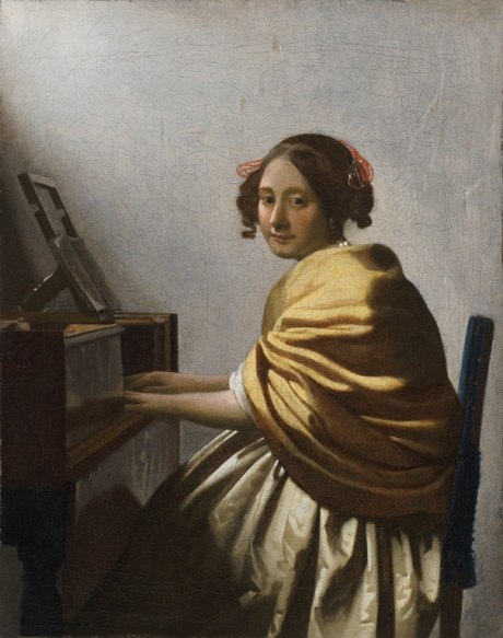 Vermeer, Young Woman Seated at a Virginal