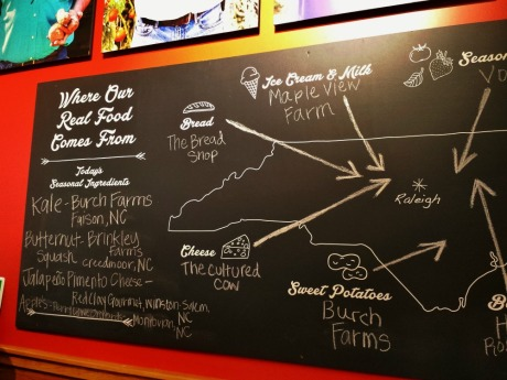 Farm fresh dining in Greater Raleigh, casual, fast food