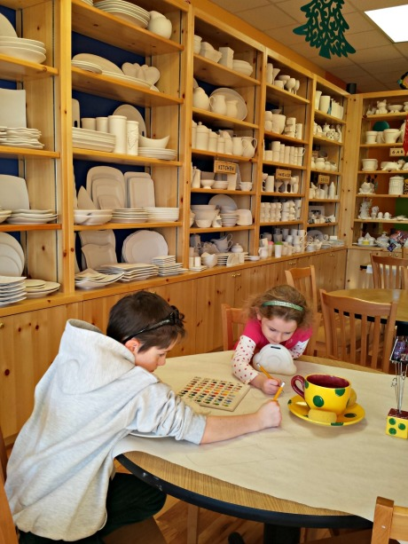 things to do in Raleigh with kids, Color Me Mine Cary paint ceramics.