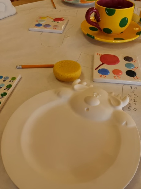 Kids and adults can paint ceramics at Color Me Mine in Cary